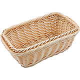 "Light Wood Tone, Polyrattan Bread Basket - 1/4 Gn, 4"" Deep"