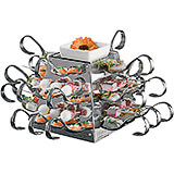 Stainless Steel Tasting Spoon Holder, Display with 24 Spoons and Skewers