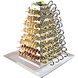 Stainless Steel Tasting Spoon Holder, Rotating Display W/ 108 Spoons, 200 Skewers