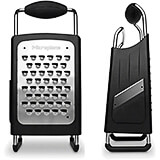 Black, Stainless Steel Four-sided Box Grater