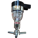 Chrome Steel Automatic Shot Dispenser Head for Rack, 35 cc or 1-1/8 Oz