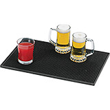 "Black, Plastic Bar Mat, 17.75"" X 11.88"""
