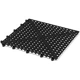 Black, Plastic Skid Resistant Bar Mat, Square, 5.88""