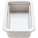 "White, Porcelain Gn 1/3 Hotel Pan / Baking Dish, 0.75"" Deep"
