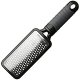 Black, Stainless Steel Handheld Coarse Grater