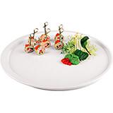 """White, Melamine Round Serving Platter, 14.5"""""""