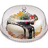 Clear, Acrylic Cake Tray and Cake Dome, 12.5""