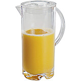 Clear, Acrylic Juice Pitcher with Lid, 2.13 Qt