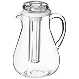 Clear, Acrylic Juice Pitcher with Ice Insert, 3 Qt