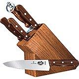 7-piece Knife Set With Oak Block Base, Rosewood Handles