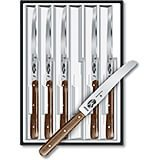 Steak Knife Set, Round Tip, Serrated Blade, Rosewood Handles, 6/PK