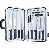Gourmet Knife Set, 14-piece, Black Fibrox Handles With Hard Case