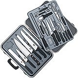 Gourmet Knife Set, 24-piece, Black Fibrox Handles With Hard Case
