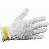 White, Polyester Knit / Glass Fiber Cut Resistant Glove, Large