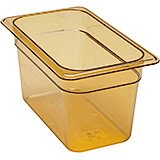 "Amber, 1/4 GN High Heat Food Pan, 6"" Deep, 6/PK"