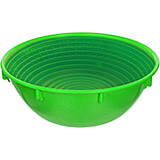 Green, Plastic Proofing Basket, Round, 7.25""