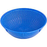 Blue, Plastic Proofing Basket, Round, 10""