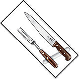 "2-piece Carving Set, Rosewood Handles, 8"" Slicer, 10.5"" Carving Fork"
