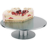 """Stainless Steel Revolving Cake Stand, 12.13"""""""