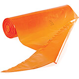 "Orange, Plastic Disposable Pastry Bags, 15.75"", 100/PK"
