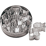 Stainless Steel Animals Dough Cutter, Set Of 10 Assorted Pieces