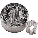 Stainless Steel Flower Dough Cutter, Set Of 6 Assorted Pieces