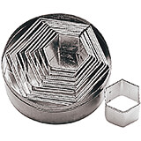 Stainless Steel Hexagon Dough Cutter, Set Of 6 Assorted Pieces