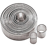 Stainless Steel Round Plain Cookie Cutters, Set Of 14 Assorted Pieces