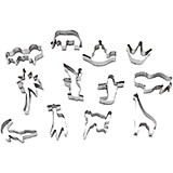 Stainless Steel Animals Cookie Cutters, Set Of 10 Assorted Pieces