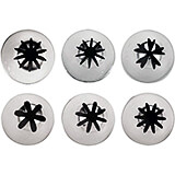 Stainless Steel 6 Piece Decorating Icing Tips, Happy Flower