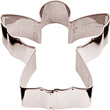 Stainless Steel Angel Cookie Cutter, 2.75""