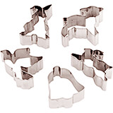Stainless Steel Set Of 6 Assorted Easter Cookie Cutters, 3.13""