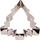 Stainless Steel Christmas Tree Cookie Cutter, 3.13""