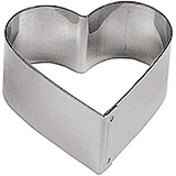 "Stainless Steel Heart-shaped Pastry Ring, 2.5"", 6/PK"