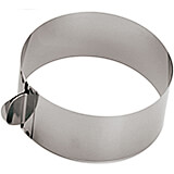 "Stainless Steel Adjustable Round Cake Frame / Ring Mold, 6.5"" To 12.5"""