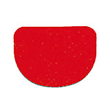 Red, Plastic Bowl Scraper, Rounded, 4.75""