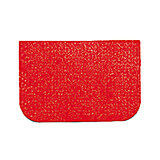 Red, Plastic Bowl Scraper, Rectangular, 4.75""