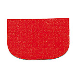 Red, Plastic Bowl Scraper, Rounded Rectangle, 4""
