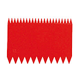 Red, Plastic Bowl Scraper, Serrated Two-sided, 4.38""