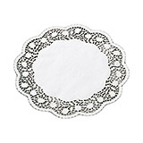 "White, Paper Doilies, Round Disposable Placemats, 16.5"", 250/PK"