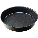 Black, Steel Plain Non-stick Cake Pan, 11""