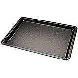 "Black, Steel Non-stick Baking Sheet, 13.38"" X 9.5"""