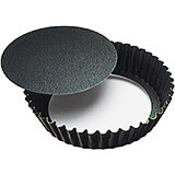 Black, Steel Deep Non-stick Fluted Mold, 4""