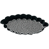 Black, Steel Non-stick Fluted Boat Mold, 3.12""