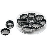 """Brown, Steel Set Of 24 Assorted Petit Fours Non-stick Molds, 5"""""""