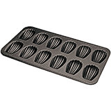 Black, Steel Non-stick Madeleine Baking Sheet, 12 Cups