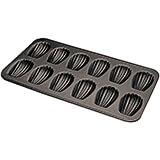 Black, Steel Non-stick Madeleine Baking Sheet, 12 Cups