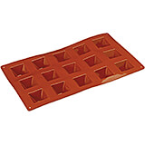 Non-stick Silicone Mold, Pyramid, Sheet Of 15