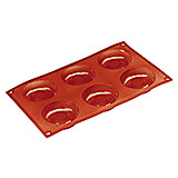 Non-stick Silicone Mold, Savarin, Sheet Of 6