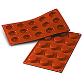 Non-stick Silicone Mold for Tartlets, Sheet Of 15